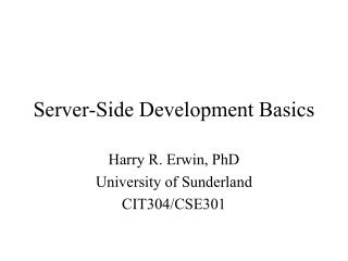 Server-Side Development Basics