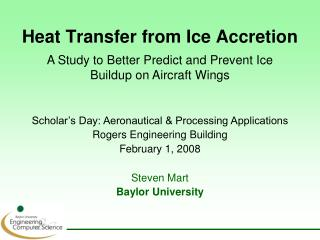Heat Transfer from Ice Accretion