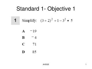AHSGE Standard 10