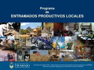 Programa  de ENTRAMADOS PRODUCTIVOS LOCALES