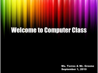Welcome to Computer Class