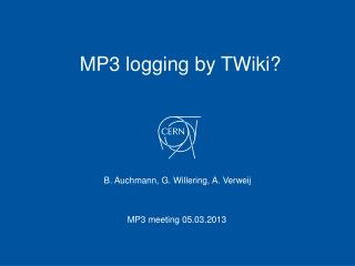 MP3 logging by  TWiki ?
