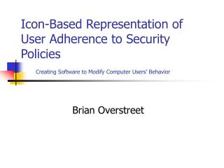 Icon-Based Representation of User Adherence to Security Policies