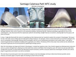 Santiago  Calatrava  Path WTC  study Nicholas Schoeppner