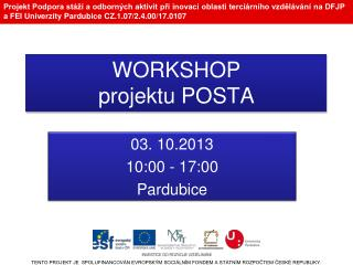 WORKSHOP projektu POSTA
