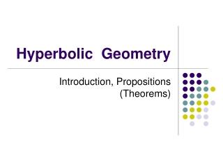 Lobachevsky-Bolyai-Gauss Geometry