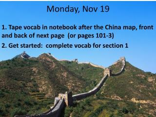 Monday, Nov 19