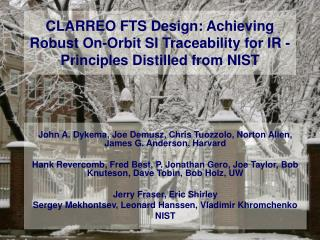 CLARREO FTS Design: Achieving Robust On-Orbit SI Traceability for IR - Principles Distilled from NIST