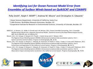 Identifying Loci for Ocean Forecast Model Error from