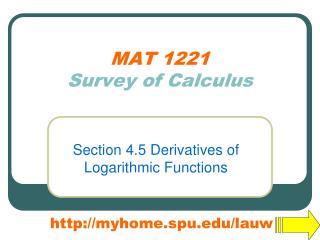 MAT 1221 Survey of Calculus