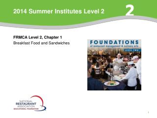 2014 Summer Institutes Level 2