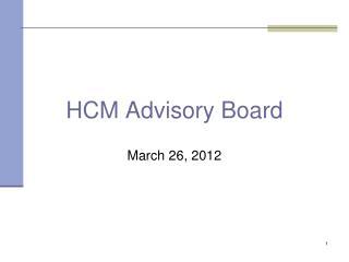HCM Advisory Board