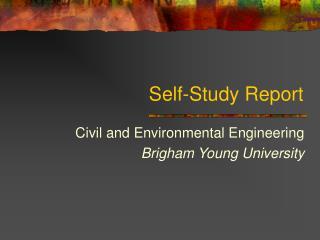 Self-Study Report