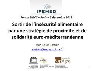 Jean-Louis Rastoin rastoin@supagrora.fr