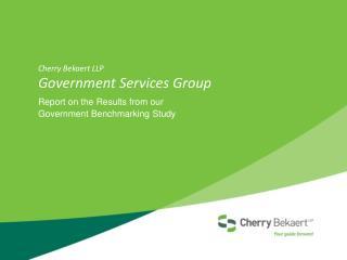 Cherry  Bekaert  LLP Government Services Group