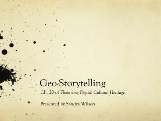 Geo-Storytelling