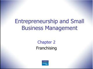 Chapter 2 Franchising
