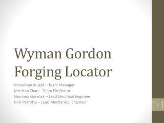 Wyman Gordon Forging Locator