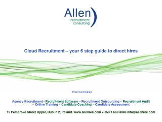 Cloud Recruitment – your 6 step guide to direct hires
