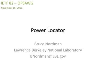 Power Locator