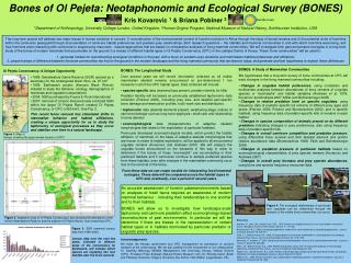 Bones of Ol Pejeta: Neotaphonomic and Ecological Survey (BONES)