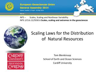 Scaling Laws for the Distribution of  Natural Resources