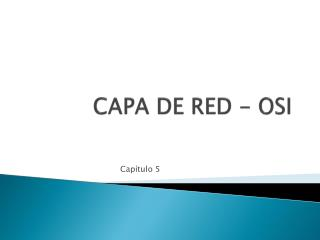 CAPA DE RED - OSI