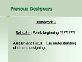 Famous Designers