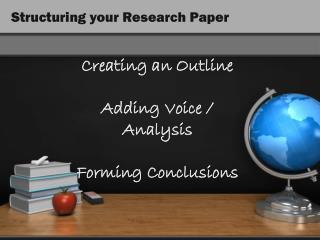 Structuring your Research Paper