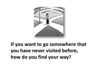 If you want to go somewhere that  you have never visited before, how do you find your way?