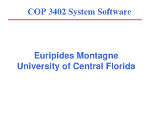 COP 3402 System Software