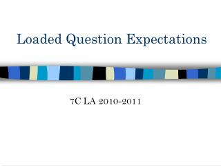 Loaded Question Expectations