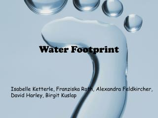 W ater F ootprint