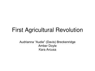 First Agricultural Revolution