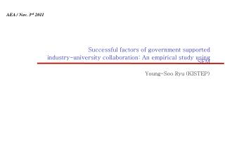 Successful factors of government supported