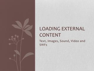 Loading External content