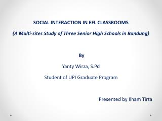 SOCIAL  INTERACTION  IN  EFL  CLASSROOMS