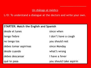 __________________ Un di álogo al médico