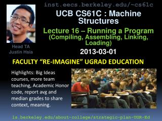 "faculty ""re-imagine"" ugrad education"