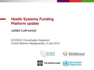Health Systems Funding Platform update