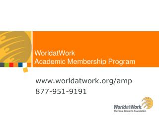 worldatwork/amp 877-951-9191