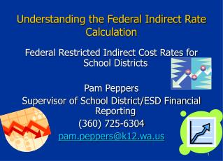 Understanding the Federal Indirect Rate Calculation