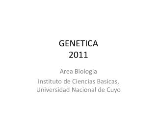 GENETICA 2011