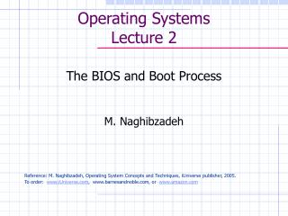 Operating Systems Lecture 2