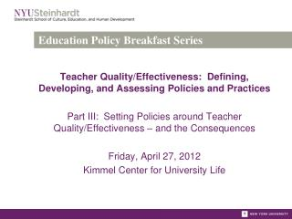 Education Policy Breakfast Series
