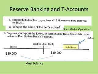 Reserve Banking and T-Accounts