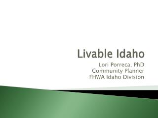Livable Idaho