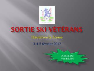 Sortie Ski Vétérans
