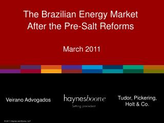 The Brazilian Energy Market After the Pre-Salt Reforms