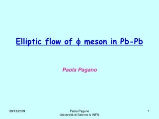 Elliptic flow of    meson in Pb-Pb
